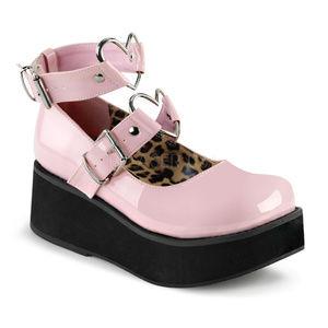 Valentines Heart Gothic Platform Mary Jane Shoes